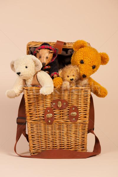 Bears in toy box Stock photo © ivonnewierink