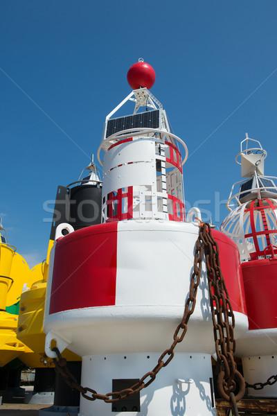 Mare colorato navigazione acqua catena bianco Foto d'archivio © ivonnewierink