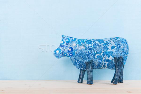 Holandés vaca azul mano papel casa Foto stock © ivonnewierink