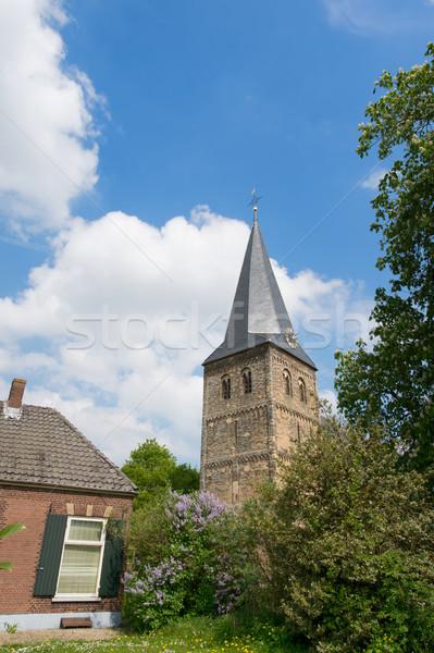 Dutch church in Achterhoek Stock photo © ivonnewierink