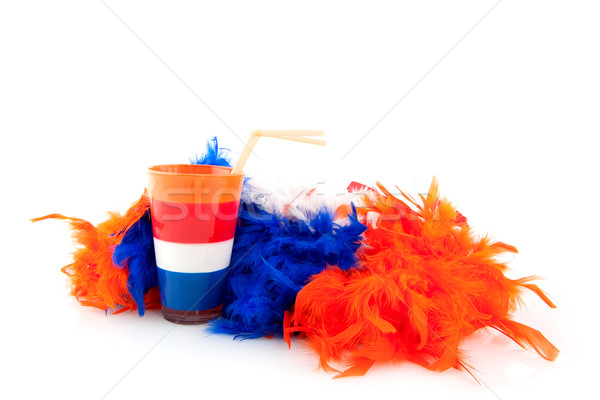 Día Holanda colores bandera deportes naranja Foto stock © ivonnewierink