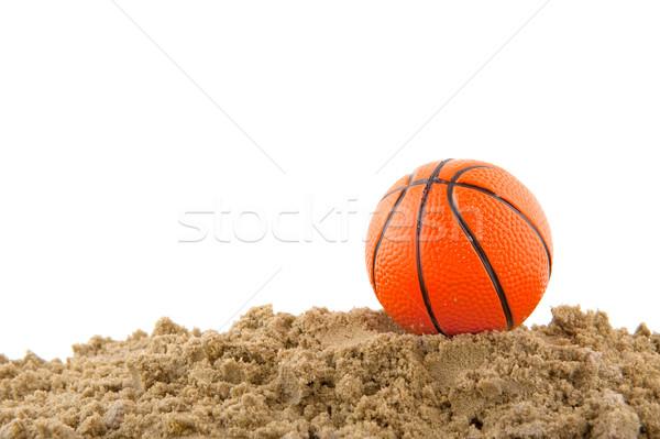 ビーチ ボレー ボール 砂 スポーツ 夏 ストックフォト © ivonnewierink