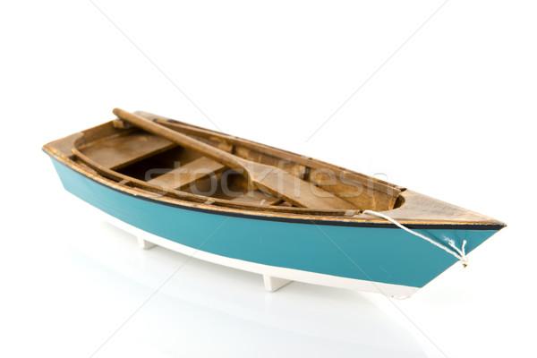 Blue rowing boat Stock photo © ivonnewierink