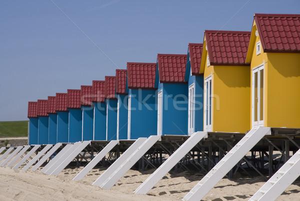Beach houses Stock photo © ivonnewierink