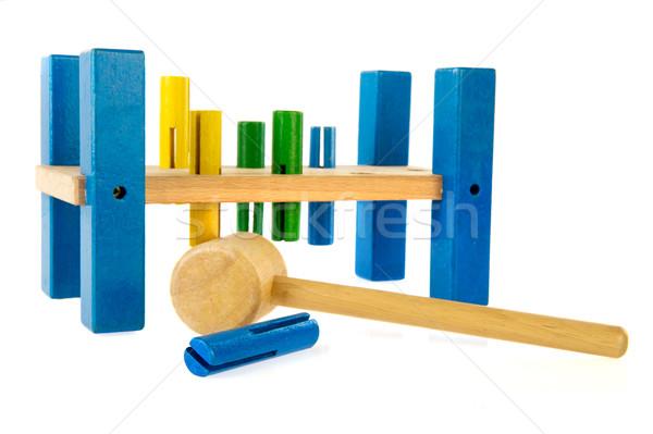 игрушку инструментом плотник деревянная игрушка мало фон Сток-фото © ivonnewierink