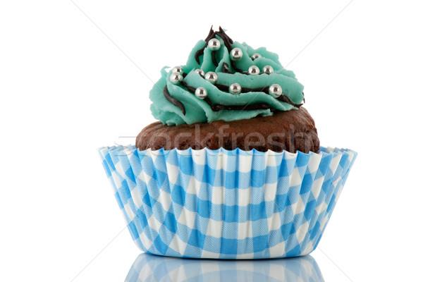 Chocolate cupcake with butter cream Stock photo © ivonnewierink
