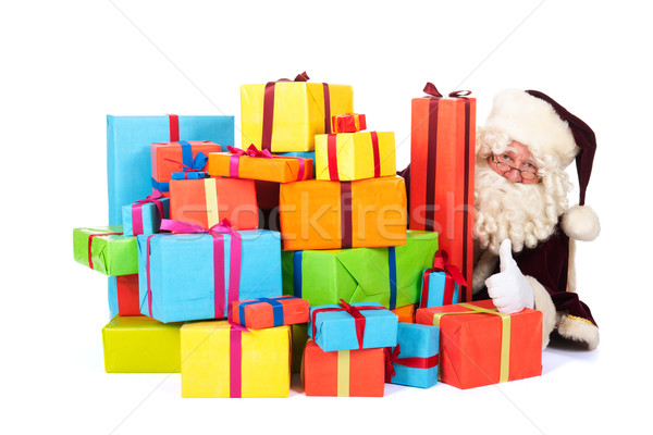 Santa Claus with many presents Stock photo © ivonnewierink