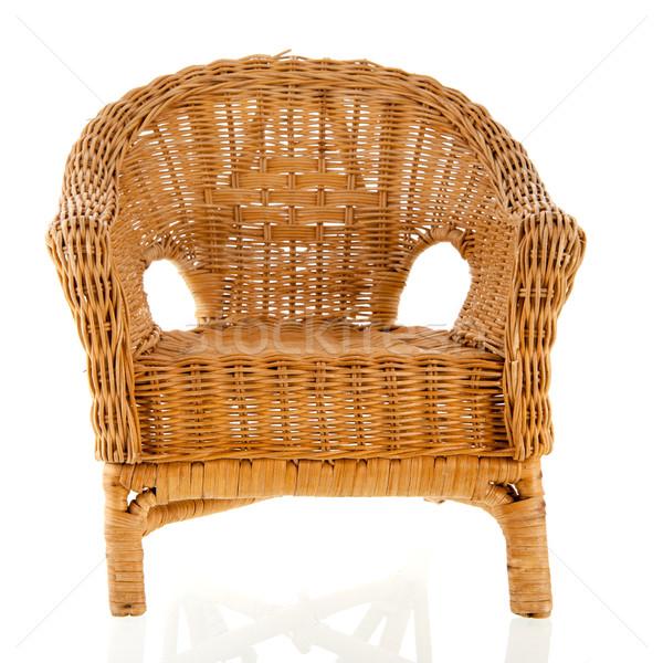 Fonott szék színes párnák bútor társalgó Stock fotó © ivonnewierink