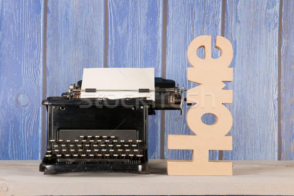 Antique typewriter at home Stock photo © ivonnewierink