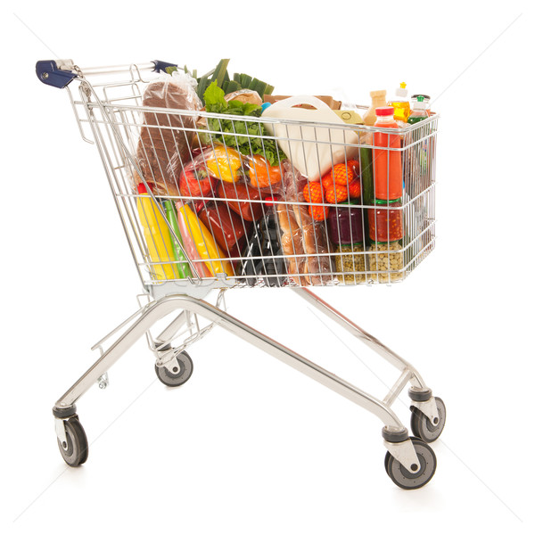 Shopping cart full dairy grocery Stock photo © ivonnewierink