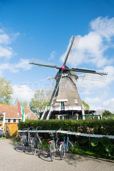 Windmill at Dutch wadden island Terschelling Stock photo © ivonnewierink
