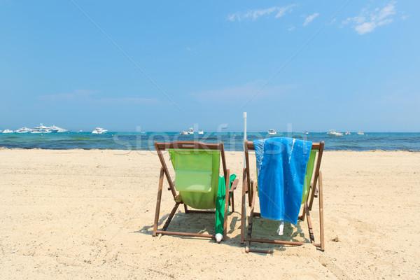 ビーチ 高級 夏 緑 青 レトロな ストックフォト © ivonnewierink