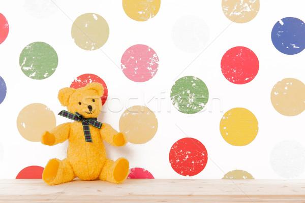 Faiskola szoba klasszikus medve színes fa Stock fotó © ivonnewierink