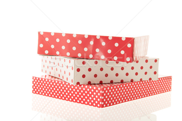Red dotted gifts Stock photo © ivonnewierink