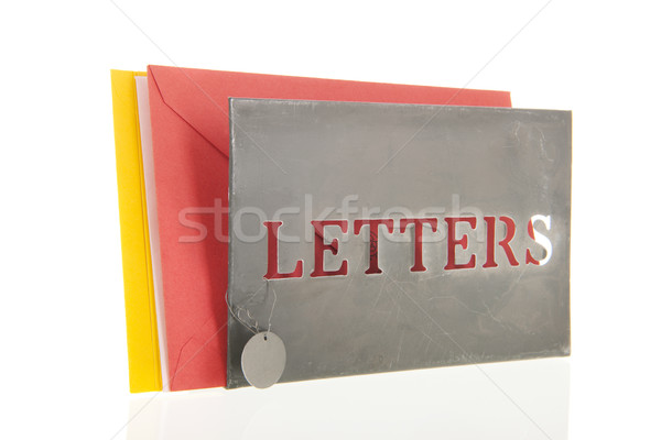 Letters in a stand Stock photo © ivonnewierink