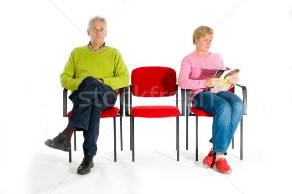 待合室 高齢者 人 女性 男 医師 ストックフォト © ivonnewierink