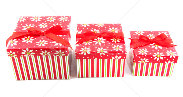 Row with christmas presents Stock photo © ivonnewierink
