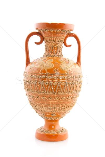 Stock fotó: Antik · görög · váza · tipikus · dekoráció · izolált