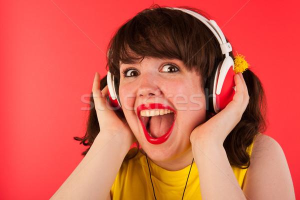 Bene musica emozionante ragazza ritratto Foto d'archivio © ivonnewierink