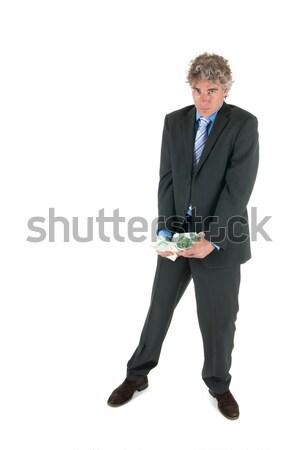 Hombre de negocios robado dinero europeo negocios fondo Foto stock © ivonnewierink