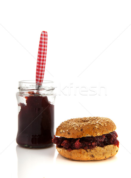 Bread with sweet jam Stock photo © ivonnewierink