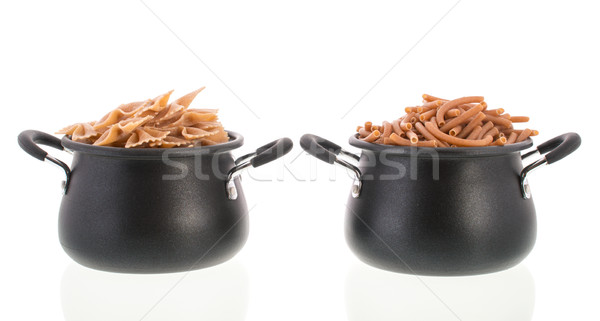 Wholemeal farfalle and macaroni Stock photo © ivonnewierink