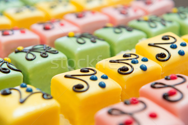 colorful Petit fours for the party Stock photo © ivonnewierink