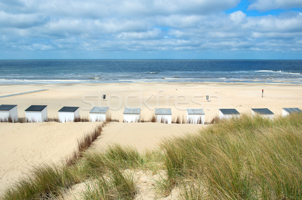 Blue beach huts at Texel Stock photo © ivonnewierink