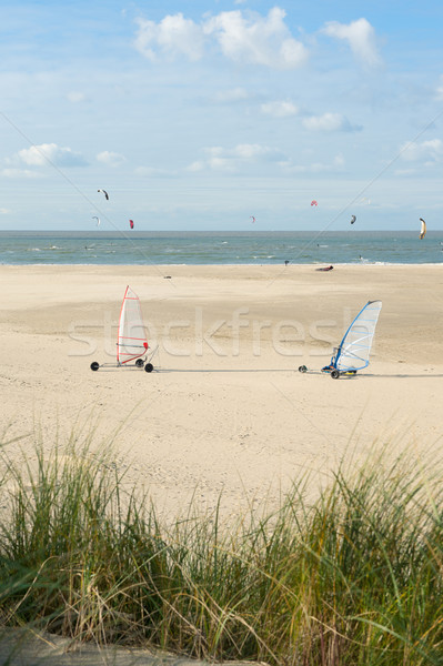 Land sailing and powerkiting Stock photo © ivonnewierink