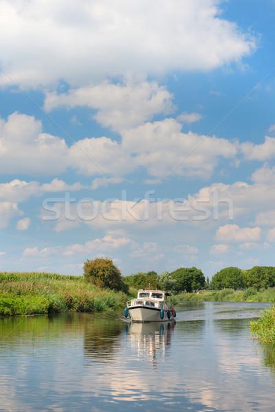 Сток-фото: голландский · реке · пейзаж · спокойный · деревья · лет