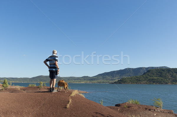 Lac du Salagou in France Stock photo © ivonnewierink