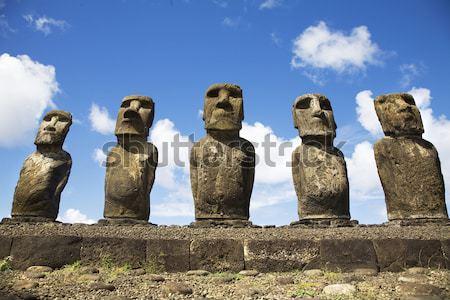 Ilha de Páscoa pedra parque ilha história magia Foto stock © ivonnewierink