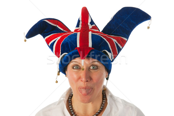 Funny British girl with typical hat Stock photo © ivonnewierink