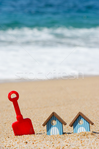 Beach huts and toys Stock photo © ivonnewierink
