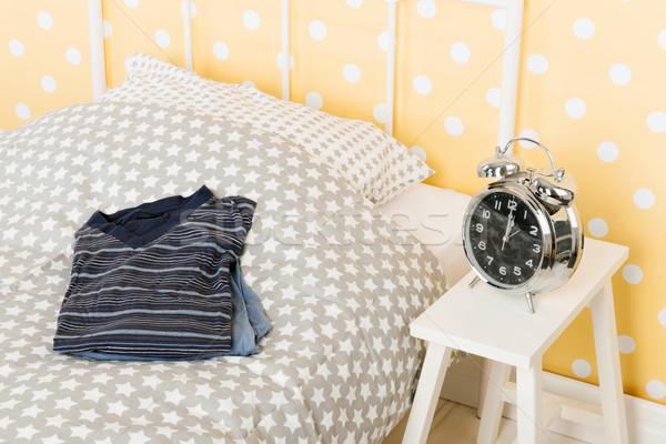 Bedroom with pyjama's for man Stock photo © ivonnewierink