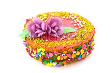 Fancy birthday cake Stock photo © ivonnewierink
