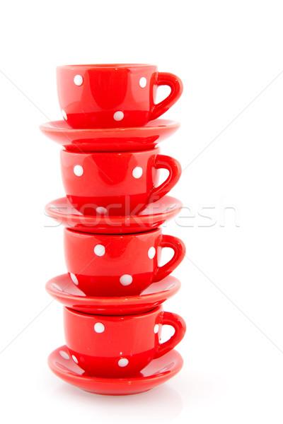 Red crockery Stock photo © ivonnewierink