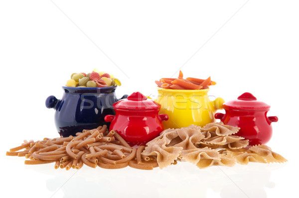 Wholemeal pasta assortment Stock photo © ivonnewierink