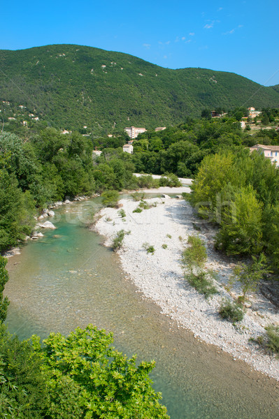 River the Eygues in the Drome Provencal Stock photo © ivonnewierink