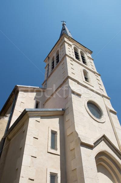Small church in village in France Stock photo © ivonnewierink
