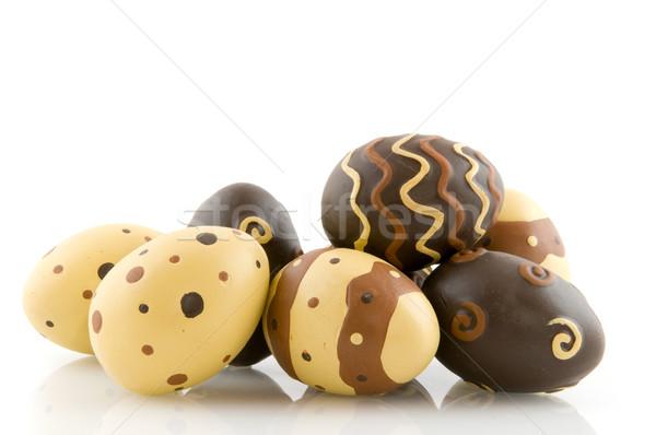 Stok fotoğraf: çikolata · paskalya · yumurtası · dekorasyon · model · yalıtılmış · beyaz