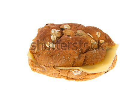 Healthy bread roll with cheese Stock photo © ivonnewierink