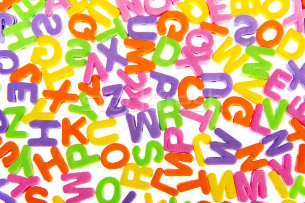 Kolorowy list chaos piana biały Zdjęcia stock © ivonnewierink