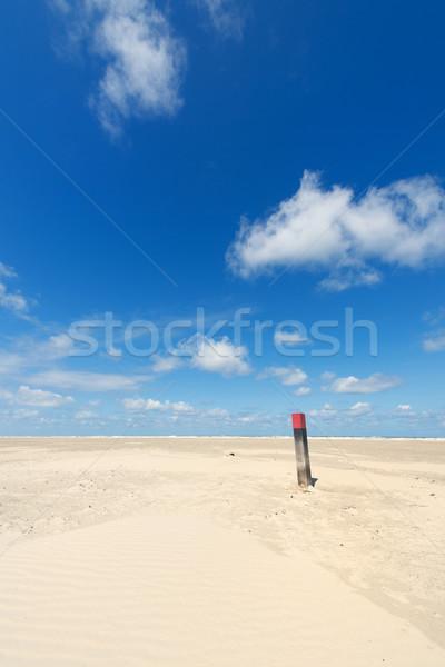 полюс пляж голландский острове облака Сток-фото © ivonnewierink