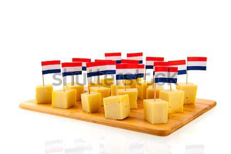 German cheese cubes Stock photo © ivonnewierink
