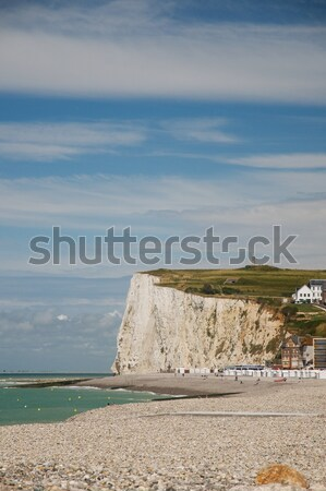 Stock photo: Chalk cliffs in Normandy