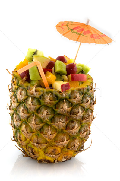 Stock photo: Tropical fruit cocktail