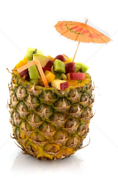 Fruta tropical coquetel ananás maçã fruto tropical Foto stock © ivonnewierink