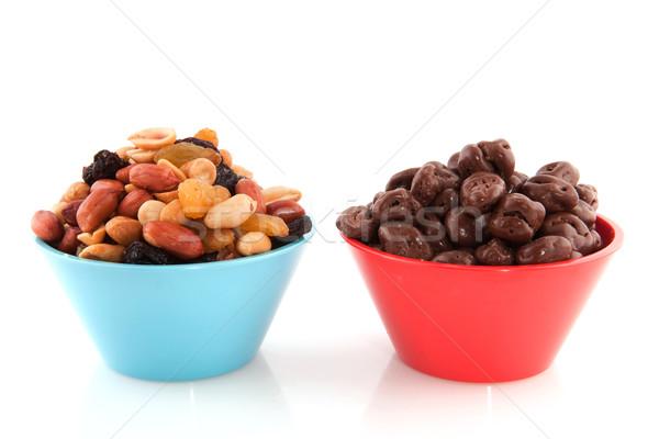 Сток-фото: смешанный · арахис · шоколадом · изюм · современных · красочный