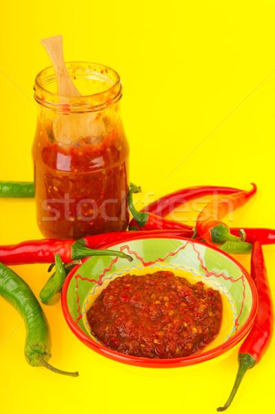 Kırmızı sıcak taze cam pot Stok fotoğraf © ivonnewierink